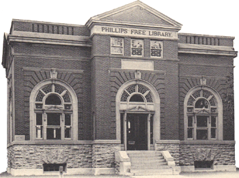 Early Photo of Phillips Library in Homer NY